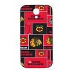 Chicago Blackhawks Nhl Block Fleece Fabric Samsung Galaxy S4 I9500/I9505  Hardshell Back Case Front