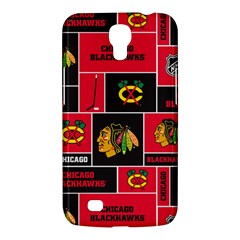 Chicago Blackhawks Nhl Block Fleece Fabric Samsung Galaxy Mega 6.3  I9200 Hardshell Case