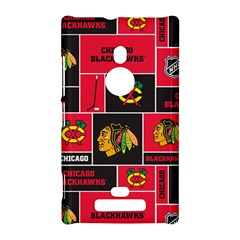 Chicago Blackhawks Nhl Block Fleece Fabric Nokia Lumia 925