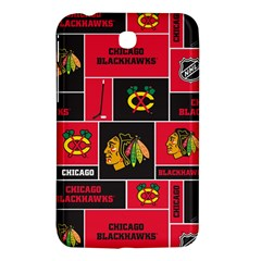 Chicago Blackhawks Nhl Block Fleece Fabric Samsung Galaxy Tab 3 (7 ) P3200 Hardshell Case