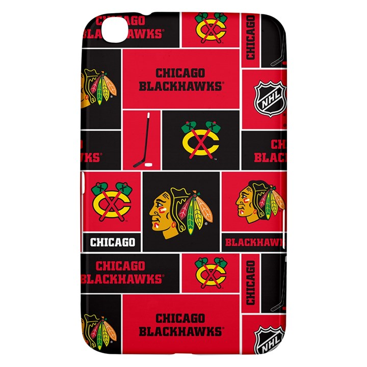 Chicago Blackhawks Nhl Block Fleece Fabric Samsung Galaxy Tab 3 (8 ) T3100 Hardshell Case