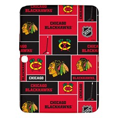 Chicago Blackhawks Nhl Block Fleece Fabric Samsung Galaxy Tab 3 (10.1 ) P5200 Hardshell Case