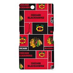 Chicago Blackhawks Nhl Block Fleece Fabric Sony Xperia Z Ultra