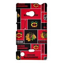 Chicago Blackhawks Nhl Block Fleece Fabric Nokia Lumia 720
