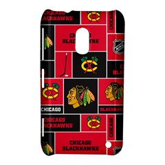 Chicago Blackhawks Nhl Block Fleece Fabric Nokia Lumia 620