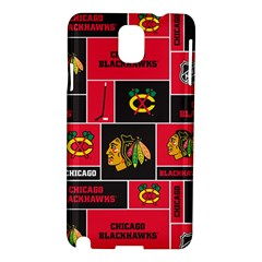 Chicago Blackhawks Nhl Block Fleece Fabric Samsung Galaxy Note 3 N9005 Hardshell Case