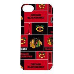 Chicago Blackhawks Nhl Block Fleece Fabric Apple iPhone 5S/ SE Hardshell Case