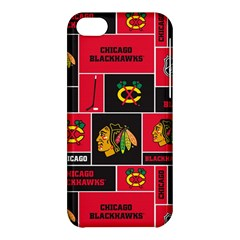 Chicago Blackhawks Nhl Block Fleece Fabric Apple Iphone 5c Hardshell Case