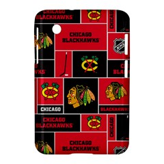 Chicago Blackhawks Nhl Block Fleece Fabric Samsung Galaxy Tab 2 (7 ) P3100 Hardshell Case