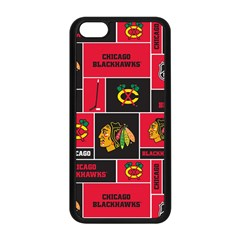 Chicago Blackhawks Nhl Block Fleece Fabric Apple iPhone 5C Seamless Case (Black)