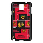 Chicago Blackhawks Nhl Block Fleece Fabric Samsung Galaxy Note 3 N9005 Case (Black) Front