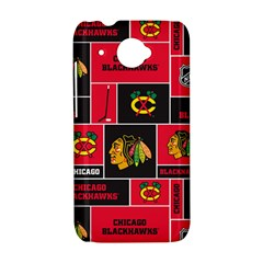 Chicago Blackhawks Nhl Block Fleece Fabric HTC Desire 601 Hardshell Case