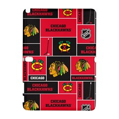 Chicago Blackhawks Nhl Block Fleece Fabric Samsung Galaxy Note 10.1 (P600) Hardshell Case