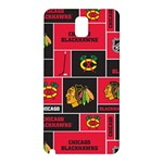 Chicago Blackhawks Nhl Block Fleece Fabric Samsung Galaxy Note 3 N9005 Hardshell Back Case Front