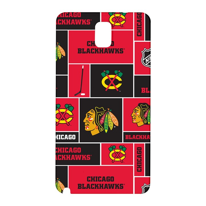 Chicago Blackhawks Nhl Block Fleece Fabric Samsung Galaxy Note 3 N9005 Hardshell Back Case
