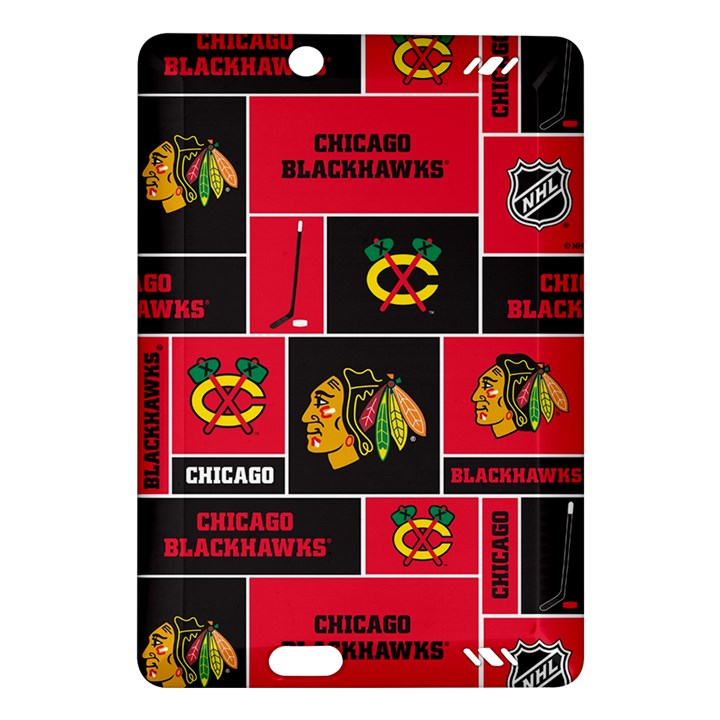 Chicago Blackhawks Nhl Block Fleece Fabric Amazon Kindle Fire HD (2013) Hardshell Case