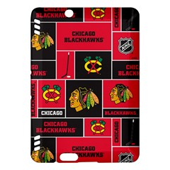 Chicago Blackhawks Nhl Block Fleece Fabric Kindle Fire HDX Hardshell Case