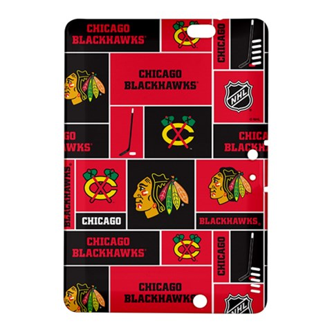 Chicago Blackhawks Nhl Block Fleece Fabric Kindle Fire HDX 8.9  Hardshell Case
