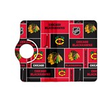 Chicago Blackhawks Nhl Block Fleece Fabric Kindle Fire HD (2013) Flip 360 Case Front