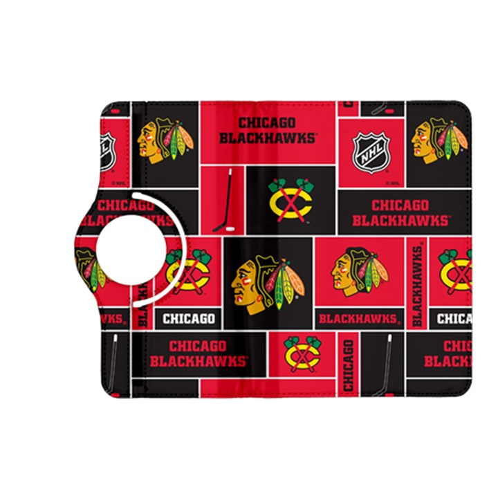 Chicago Blackhawks Nhl Block Fleece Fabric Kindle Fire HD (2013) Flip 360 Case