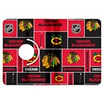 Chicago Blackhawks Nhl Block Fleece Fabric Kindle Fire HDX Flip 360 Case Front