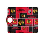 Chicago Blackhawks Nhl Block Fleece Fabric Kindle Fire HDX 8.9  Flip 360 Case Front