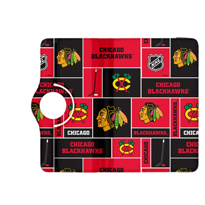 Chicago Blackhawks Nhl Block Fleece Fabric Kindle Fire HDX 8.9  Flip 360 Case