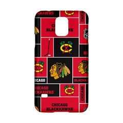 Chicago Blackhawks Nhl Block Fleece Fabric Samsung Galaxy S5 Hardshell Case