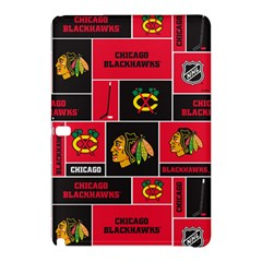 Chicago Blackhawks Nhl Block Fleece Fabric Samsung Galaxy Tab Pro 10.1 Hardshell Case