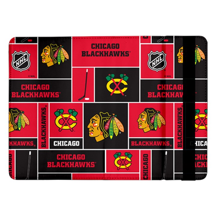 Chicago Blackhawks Nhl Block Fleece Fabric Samsung Galaxy Tab Pro 12.2  Flip Case