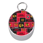 Chicago Blackhawks Nhl Block Fleece Fabric Mini Silver Compasses Front