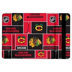 Chicago Blackhawks Nhl Block Fleece Fabric iPad Air Flip