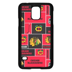 Chicago Blackhawks Nhl Block Fleece Fabric Samsung Galaxy S5 Case (Black)