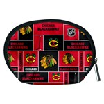 Chicago Blackhawks Nhl Block Fleece Fabric Accessory Pouches (Medium)  Back