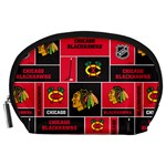 Chicago Blackhawks Nhl Block Fleece Fabric Accessory Pouches (Large)  Front