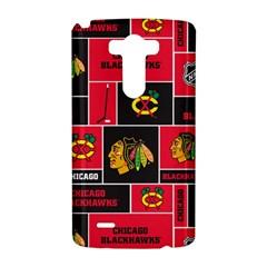 Chicago Blackhawks Nhl Block Fleece Fabric LG G3 Hardshell Case