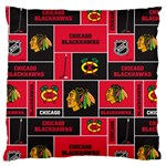 Chicago Blackhawks Nhl Block Fleece Fabric Standard Flano Cushion Case (Two Sides) Front
