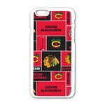 Chicago Blackhawks Nhl Block Fleece Fabric Apple iPhone 6/6S White Enamel Case Front