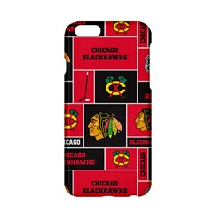 Chicago Blackhawks Nhl Block Fleece Fabric Apple Iphone 6/6s Hardshell Case