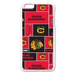 Chicago Blackhawks Nhl Block Fleece Fabric Apple iPhone 6 Plus/6S Plus Enamel White Case Front