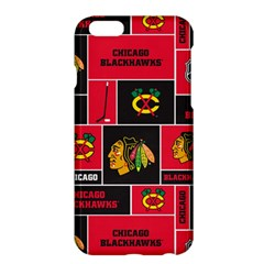 Chicago Blackhawks Nhl Block Fleece Fabric Apple iPhone 6 Plus/6S Plus Hardshell Case