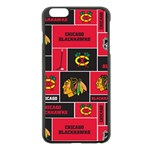 Chicago Blackhawks Nhl Block Fleece Fabric Apple iPhone 6 Plus/6S Plus Black Enamel Case Front