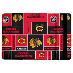 Chicago Blackhawks Nhl Block Fleece Fabric iPad Air 2 Flip