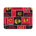 Chicago Blackhawks Nhl Block Fleece Fabric Double Sided Flano Blanket (Mini)  35 x27 Blanket Front