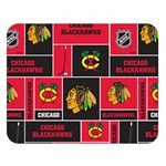 Chicago Blackhawks Nhl Block Fleece Fabric Double Sided Flano Blanket (Large)  80 x60 Blanket Front
