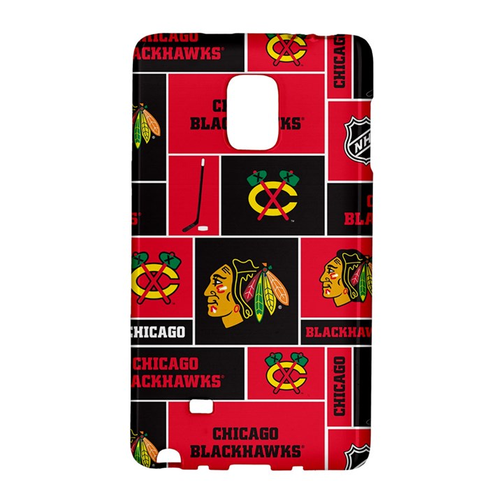 Chicago Blackhawks Nhl Block Fleece Fabric Galaxy Note Edge