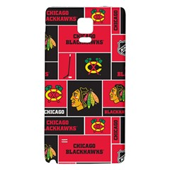 Chicago Blackhawks Nhl Block Fleece Fabric Galaxy Note 4 Back Case