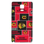 Chicago Blackhawks Nhl Block Fleece Fabric Galaxy Note 4 Back Case Front