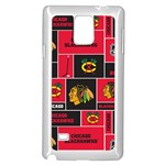 Chicago Blackhawks Nhl Block Fleece Fabric Samsung Galaxy Note 4 Case (White) Front