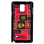 Chicago Blackhawks Nhl Block Fleece Fabric Samsung Galaxy Note 4 Case (Black) Front